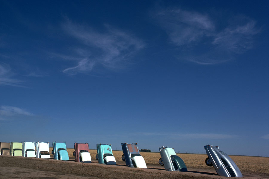 It was an art installation that would come to be known as Cadillac Ranch.